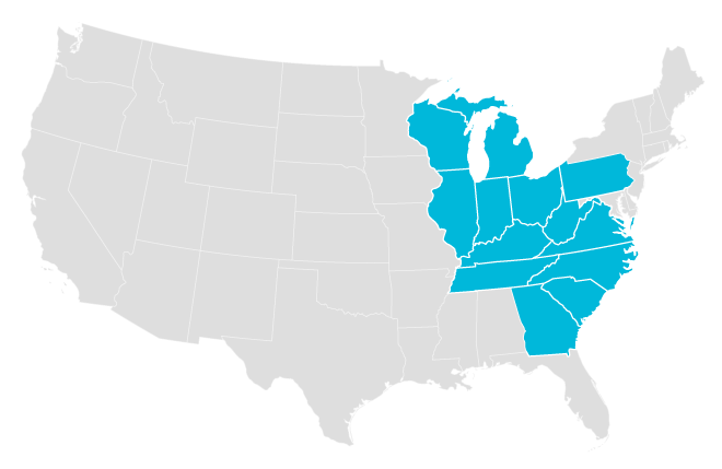 Diamond Solutions coverage area map